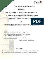 Rapport Collège militaire royal du Canada