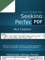 seeking perfection novel sheet guide