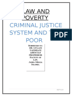 Position of Poor Under Criminal Justice System