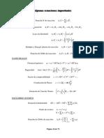 Fisicoquímica - Resumen de Formulas