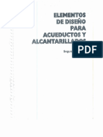 Elementos de Diseño Para Acueductos y Alcantarillados (Ricardo Alfredo López Cualla)