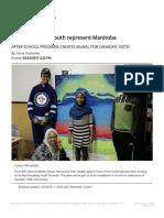 west broadway youth represent manitoba - winnipeg free press