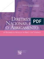 Diretrizes Nacionais Para o Abrigamento de Mulheres Em Situação de Violência