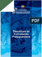 Directrices de Formulación Presupuestaria 20173