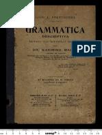 MACIEL, Maximino. Grammatica Descriptiva.