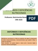 Slides Distúrbios e Deficiências Nutricionais Completo