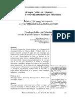 Psicologia Politica en Colombia