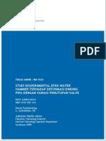 Its-undergraduate-7359-2104100134-Studi Eksperimental Efek Water Hammer Terhadap Deformasi Pada Dinding Pipa Dengan Variasi Penutupan Valve