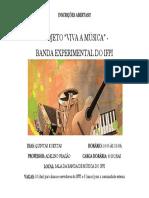 Inscrições Abertas Banda Experimental