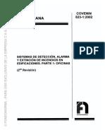 823-1-2002 Sistema de Detección de Alarma y Extinción Oficina