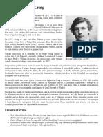 Breve Reseña de Edward Gordon Craig