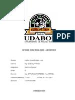 Informe de Materiales de Laboratorio y Normas de Seguridad UDABOL CBBA