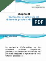 Chapitre II Rechercher Et Analyser Les Différents Produits Disponibles