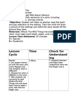 literacy lesson plan