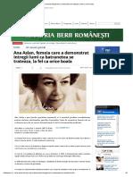 Ana Aslan, Femeia Care a Demonstrat Intregii Lumi CA Batranetea Se Trateaza, La Fel CA Orice Boala