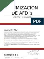 MINIMIZACIÓN DE AFD`s