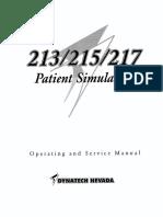 patient simulator dynatech 213_215_217