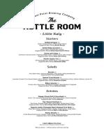 The Kettle Room Menu