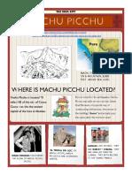 machu picchu activities