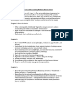 Advanced Cost Accounting Review Sheet
