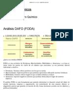 Análisis DAFO (FODA) – Ingenieros Químicos