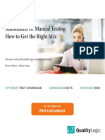 Manual vs Automated Testing Guide