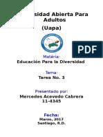 Tarea III - Educacion Para La Diversidad