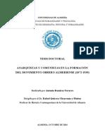 Anarquistas y Comunistas Almería 1872-1939