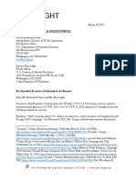 American Oversight FOIA request to DHS - Tribal Land (DHS-17-0055)