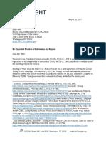 American Oversight FOIA to BLM - Tohono O'odham Nation (DOI-17-0052)