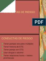 Conductas de Riesgo sobre ETS