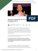Amazon & Leadership_ the 14 Leadership Principles (Part 1) _ Will Trevor MA_ BSc Econ _ Chartered Marketer _ Pulse _ LinkedIn