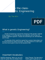 teach the class-genetic engineering