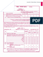 TNTET 2013 - Paper II Original Question Paper - 18.08.2014 - With TRB Answer Keys