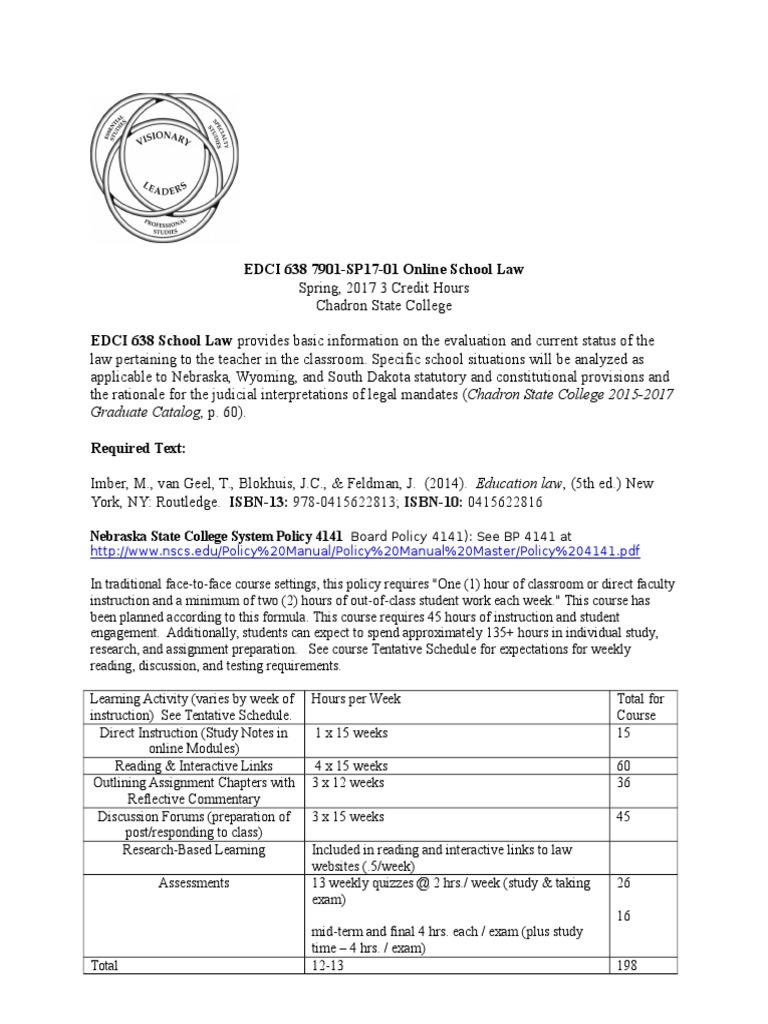 edci 638 spring 2017 syllabus   Learning   Curriculum