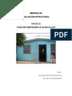 Evaluación Estructural Casa Lic. Silvia Ulloa