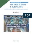 Curso de Angeles Gratis Leccion 23 en Nuestra Vida Alexiis y Centro Atenea Espiritual.