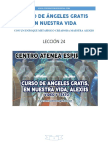 Curso de Angeles Gratis Leccion 24 en Nuestra Vida Alexiis y Centro Atenea Espiritual.
