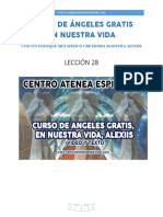 Curso de Angeles Gratis Leccion 28 en Nuestra Vida Alexiis y Centro Atenea Espiritual.
