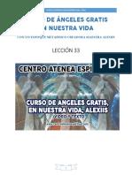 Curso de Angeles Gratis Leccion 33 en Nuestra Vida Alexiis y Centro Atenea Espiritual.