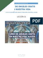 Curso de Angeles Gratis Leccion 31 en Nuestra Vida Alexiis y Centro Atenea Espiritual.