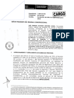 - Excepción de falta de legitimidad para obrar presentada por la Procuraduría Pública Especializada en Materia Constitucional.