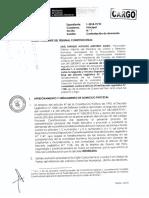 - Contestación a la demanda de inconstitucionalidad por parte de la Procuraduría Pública Especializada en Materia Constitucional.