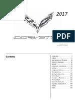 2017 Chevrolet Corvette Sportst Car Owners Manual