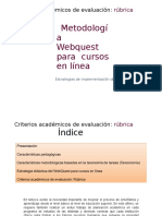 Metodología Webquest_cursos en Línea