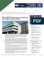 Banco BHD León presenta resultados de Estrategia de Género Mujer