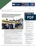La ONU cita a República Dominicana entre los países con retrocesos en derechos de las mujeres