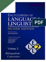 Encyclopedia of Language and Linguistics Volume 2.pdf