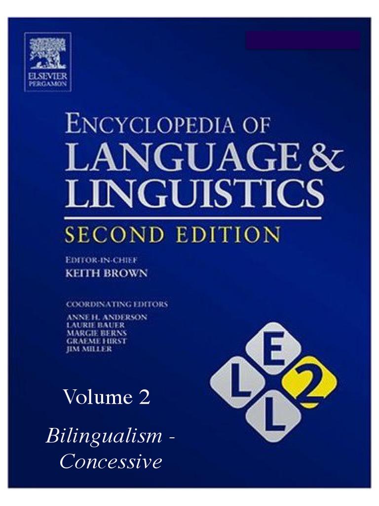 Encyclopedia of language and linguistics volume 2pdf encyclopedia of language and linguistics volume 2pdf multilingualism language acquisition fandeluxe Gallery
