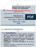 1. Practica n.07-Hidrometria